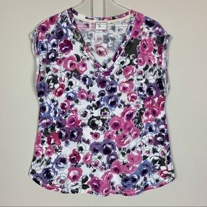 Anthropologie '9-H15 STCL' Floral T-Shirt Size M